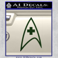 Star Trek Insignia Medical Decal Sticker Dark Green Vinyl 120x120