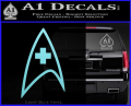 Star Trek Insignia Medical Decal Sticker Light Blue Vinyl 120x97