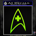 Star Trek Insignia Medical Decal Sticker Neon Green Vinyl 120x120