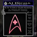 Star Trek Insignia Medical Decal Sticker Soft Pink Emblem 120x120