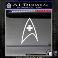 Star Trek Insignia Medical Decal Sticker White Vinyl 120x120
