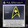 Star Trek Insignia Medical Decal Sticker Yellow Vinyl 120x120