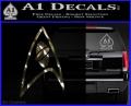 Star Trek Insignia Sciences Decal Sticker 3DC Vinyl 120x97
