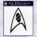 Star Trek Insignia Sciences Decal Sticker Black Vinyl 120x120