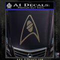 Star Trek Insignia Sciences Decal Sticker CFC Vinyl 120x120