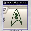 Star Trek Insignia Sciences Decal Sticker Dark Green Vinyl 120x120
