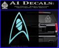 Star Trek Insignia Sciences Decal Sticker Light Blue Vinyl 120x97