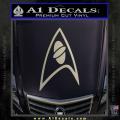 Star Trek Insignia Sciences Decal Sticker Metallic Silver Vinyl 120x120