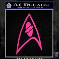 Star Trek Insignia Sciences Decal Sticker Neon Pink Vinyl 120x120