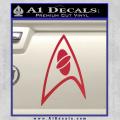 Star Trek Insignia Sciences Decal Sticker Red Vinyl 120x120