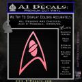 Star Trek Insignia Sciences Decal Sticker Soft Pink Emblem 120x120