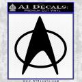 Star Trek Insignia The Next Generation Decal Sticker Black Vinyl 120x120