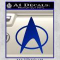 Star Trek Insignia The Next Generation Decal Sticker Blue Vinyl 120x120