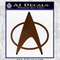 Star Trek Insignia The Next Generation Decal Sticker Brown Vinyl 120x120