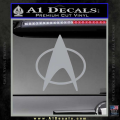 Star Trek Insignia The Next Generation Decal Sticker Grey Vinyl 120x120