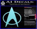 Star Trek Insignia The Next Generation Decal Sticker Light Blue Vinyl 120x97