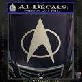 Star Trek Insignia The Next Generation Decal Sticker Metallic Silver Vinyl 120x120