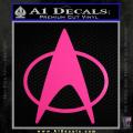 Star Trek Insignia The Next Generation Decal Sticker Neon Pink Vinyl 120x120