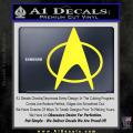 Star Trek Insignia The Next Generation Decal Sticker Yellow Vinyl 120x120
