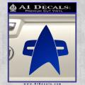 Star Trek Insignia Voyager Decal Sticker Blue Vinyl 120x120