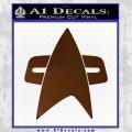 Star Trek Insignia Voyager Decal Sticker Brown Vinyl 120x120