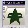 Star Trek Insignia Voyager Decal Sticker Dark Green Vinyl 120x120