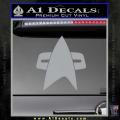 Star Trek Insignia Voyager Decal Sticker Grey Vinyl 120x120