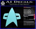 Star Trek Insignia Voyager Decal Sticker Light Blue Vinyl 120x97