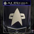 Star Trek Insignia Voyager Decal Sticker Metallic Silver Vinyl 120x120