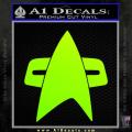 Star Trek Insignia Voyager Decal Sticker Neon Green Vinyl 120x120