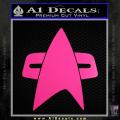 Star Trek Insignia Voyager Decal Sticker Neon Pink Vinyl 120x120