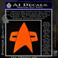 Star Trek Insignia Voyager Decal Sticker Orange Emblem 120x120