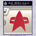 Star Trek Insignia Voyager Decal Sticker Red Vinyl 120x120