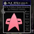 Star Trek Insignia Voyager Decal Sticker Soft Pink Emblem 120x120