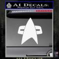 Star Trek Insignia Voyager Decal Sticker White Vinyl 120x120