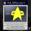 Star Trek Insignia Voyager Decal Sticker Yellow Vinyl 120x120