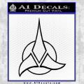 Star Trek Klingon Command Decal Sticker Black Vinyl 120x120