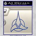 Star Trek Klingon Command Decal Sticker Blue Vinyl 120x120