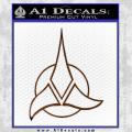 Star Trek Klingon Command Decal Sticker Brown Vinyl 120x120