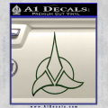 Star Trek Klingon Command Decal Sticker Dark Green Vinyl 120x120