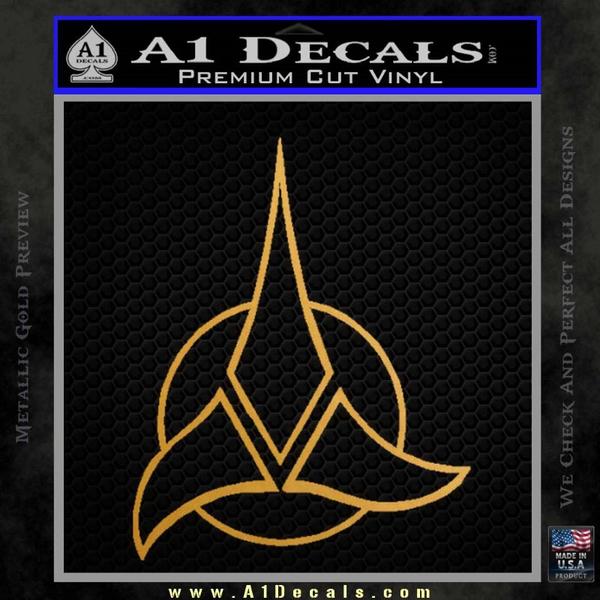 Star Trek Klingon Command Decal Sticker Gold Metallic Vinyl