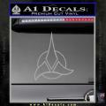 Star Trek Klingon Command Decal Sticker Grey Vinyl 120x120