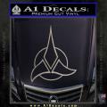 Star Trek Klingon Command Decal Sticker Metallic Silver Vinyl 120x120