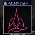 Star Trek Klingon Command Decal Sticker Neon Pink Vinyl 120x120