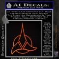 Star Trek Klingon Command Decal Sticker Orange Emblem 120x120