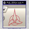 Star Trek Klingon Command Decal Sticker Red Vinyl 120x120