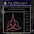 Star Trek Klingon Command Decal Sticker Soft Pink Emblem 120x120