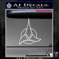 Star Trek Klingon Command Decal Sticker White Vinyl 120x120