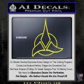 Star Trek Klingon Command Decal Sticker Yellow Vinyl 120x120