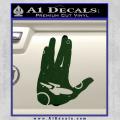 Star Trek Live Long Enterprise Decal Sticker Dark Green Vinyl 120x120
